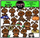 Fall Rabbit Clip Art Bundle {Educlips Clipart}