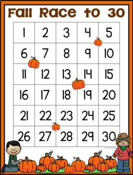 "Fall ""Race to 30""  Math Game"
