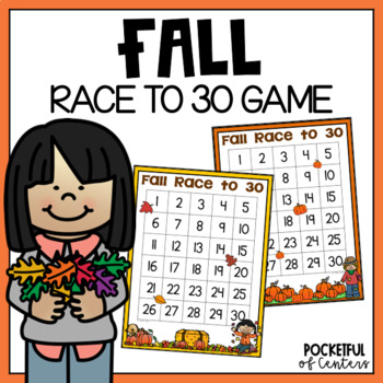 """Fall """"Race to 30""""  Math Game"""