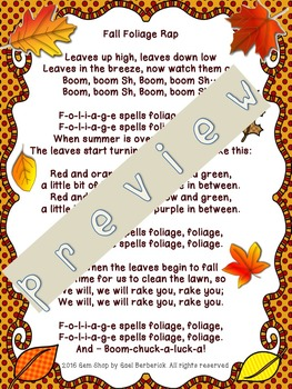 Fall Rap, Math Puzzles, Writing, Growth Mindset, Differentiated Fun Pack