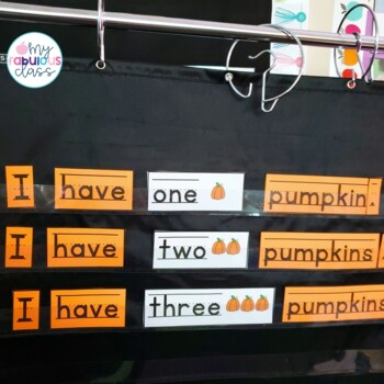 Fall Read, Build, Write {Simple Sentences}