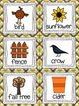 Fall Read, Write, and Count the Room {Literacy and Math} {CCSS}