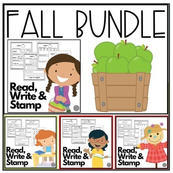 Fall Read Write and Stamp! Four Weeks of Literacy and Writing Centers