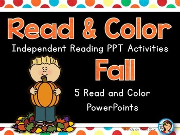 Fall Read and Color PowerPoint Bundle