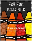 Fall Read and Color Reading Comprehension