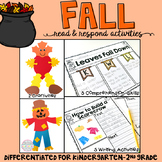 Fall: Reading Comprehension, Writing and Craftivities
