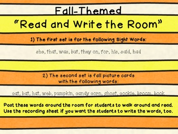 Fall Read and Write the Room
