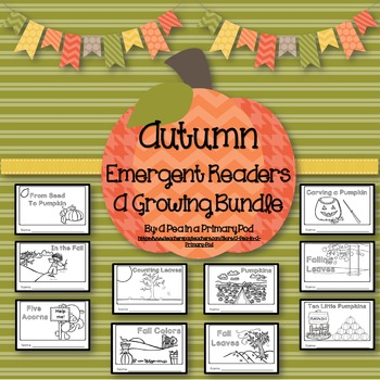 Fall Emergent Readers and Response Activities (Colors, Counting, Sequencing)
