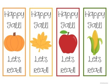 Fall Bookmarks