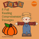 Fall Reading Comprehension Bundle of Non-fiction Passages for Grades 1-2