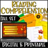 Fall Reading Comprehension   Digital Fall Reading Activiti