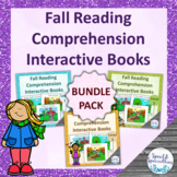 Fall Reading Comprehension Interactive Books BUNDLE