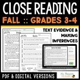 Fall Reading Comprehension Passages - October, November, D