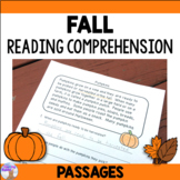 Fall Reading Comprehension Passages (Distance Learning)