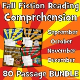 Fall Reading Comprehension Passages with Questions BUNDLE: 80 Fiction Passages