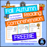 Fall Activities FREE Fall Reading Comprehension
