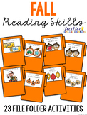 Fall Reading File Folder Tasks (23 File Folders Included)