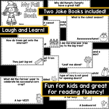 Fall Reading Fluency: My Joke Book, Fall Theme