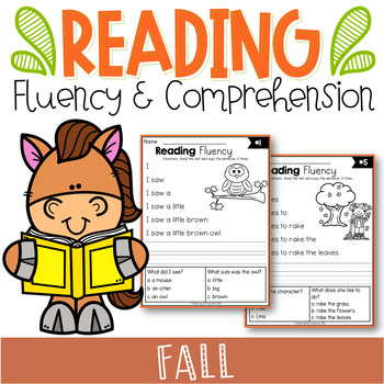Fall Reading Fluency and Comprehension