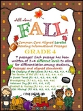 Fall Common Core Reading Informational Text-4th Grade