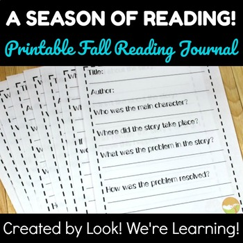 Fall Reading Journal: A Season of Reading!