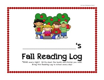 Fall Reading Log