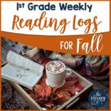 Fall Reading Log {1st Grade}
