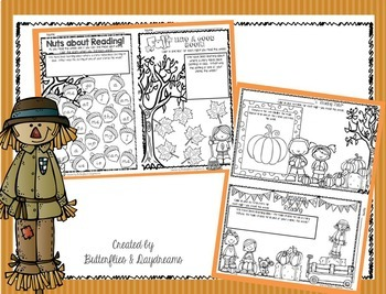 Fall Reading Log {Kindergarten}