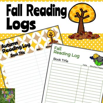Fall Reading Logs Freebie