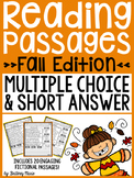 Fall Reading Passages - Multiple Choice and Short Answer