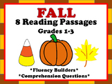 Fall Reading Passages for Fluency and Comprehension Gr1-3