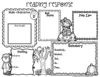 Fall Reading Response *FREEBIE*