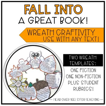 Fall Reading Wreath Craftivity {Use with any fiction or no