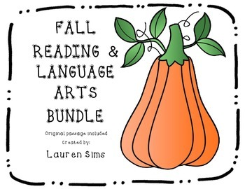 Fall Reading and Language Arts Comprehension Packet