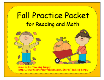 Fall Reading and Math Practice Packet - Skills Review