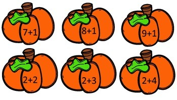 Fall Reading and Math Activities First Grade