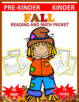 Fall Reading and Math Packet