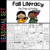 Fall Literacy Printables: 1st Grade