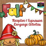 Fall Receptive & Expressive Language Activities