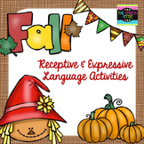 Fall Receptive & Expressive Language Activities