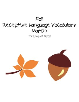 Fall Receptive Vocabulary Match