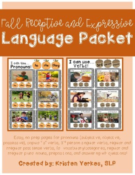 Fall Receptive and Expressive Language Packet