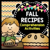 Fall Recipes {Reading Comprehension} {Life Skills} {Special Education}