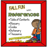 Reference Materials Fall Themed