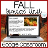 Fall Research Digital Unit for GOOGLE classroom