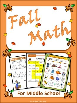 Fall Math for Middle School