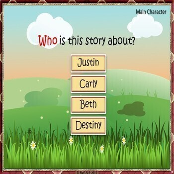 Story Retell and Sequencing BOOM CARDS Fall Edition - Teletherapy