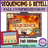 BOOM CARDS Sequencing and Story Retell Fall Edition Teletherapy