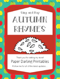 Fall Rhymes and Songs for Circle Time, Morning Meeting and
