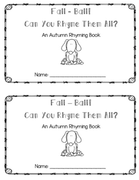 Fall Rhyming Book